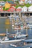 阿拉斯加Ketchikan小船港口 库存照片
