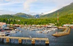 阿拉斯加Ketchikan小船港口 库存图片