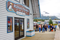 阿拉斯加Seward Kenai海湾浏览办公室 库存照片