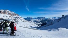 阿拉巴滑雪区域视图 免版税库存照片
