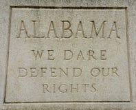 阿拉巴马信条 库存图片