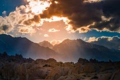 阿拉巴马小山加利福尼亚风景 库存照片