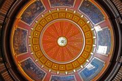 阿拉巴马状态国会大厦,蒙加马利的圆顶 库存照片