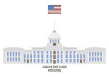 阿拉巴马状态国会大厦,蒙加马利 皇族释放例证