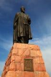 阿拜・库南巴耶夫雕象  免版税图库摄影