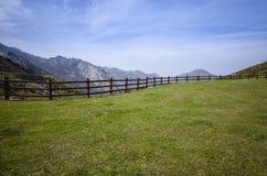 阿斯图里亚斯山风景 免版税库存照片