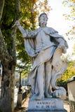 阿斯图里亚斯的拉米罗I国王雕象在马德里王宫  免版税图库摄影