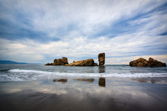 阿斯图里亚斯bayas使北部西班牙靠岸 免版税库存照片