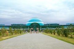 阿斯塔纳国际机场 免版税库存照片