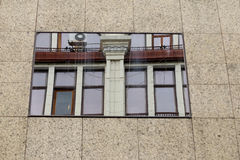2010年阿斯塔纳大厦办公室反映夏天视窗 免版税库存图片