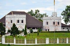 阿斯塔纳婆罗洲kuching的宫殿沙捞越 库存照片