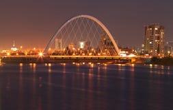 阿斯塔纳桥梁 库存图片