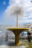 阿斯塔纳首都喷泉卡扎克斯坦 图库摄影