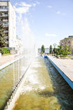 阿斯塔纳首都喷泉卡扎克斯坦 免版税库存图片