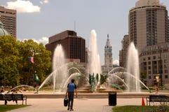 阿斯塔纳首都喷泉卡扎克斯坦 库存图片