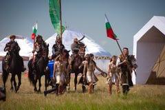 阿斯塔纳,哈萨克斯坦, 6月30日国际性组织节日 库存图片