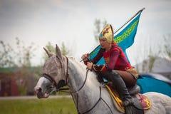 阿斯塔纳,哈萨克斯坦, 6月30日国际性组织节日 库存照片