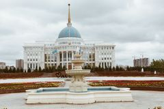 阿斯塔纳,哈萨克斯坦- 2017年9月13日:总统府Ako 库存图片