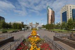 阿斯塔纳,哈萨克斯坦- 2017年9月13日:现代大厦-分 图库摄影