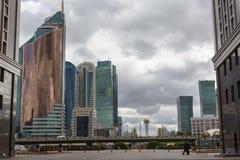 阿斯塔纳,哈萨克斯坦- 2017年9月13日:现代大厦-分 库存图片