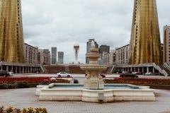 阿斯塔纳,哈萨克斯坦- 2017年9月13日:现代大厦-分 免版税图库摄影