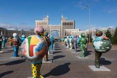 阿斯塔纳,哈萨克斯坦- 2017年9月13日:的艺术设施 库存图片