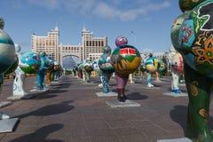 阿斯塔纳,哈萨克斯坦- 2017年9月13日:的艺术设施 库存照片