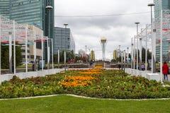 阿斯塔纳,哈萨克斯坦- 2017年9月13日:Bayterek塔是 免版税图库摄影