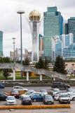 阿斯塔纳,哈萨克斯坦- 2017年9月13日:Bayterek塔是 免版税库存照片