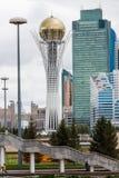 阿斯塔纳,哈萨克斯坦- 2017年9月13日:Bayterek塔是 图库摄影