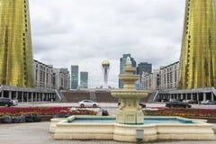 阿斯塔纳,哈萨克斯坦- 2017年9月13日:gla的建筑 免版税库存图片