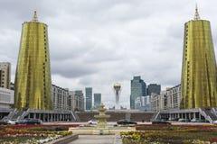 阿斯塔纳,哈萨克斯坦- 2017年9月13日:gla的建筑 图库摄影