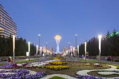 阿斯塔纳,哈萨克斯坦- 2016年8月12日:新的Asta的中心 库存照片