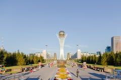 阿斯塔纳,哈萨克斯坦- 2016年8月12日:新的Asta的中心 免版税图库摄影