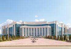 阿斯塔纳,哈萨克斯坦- 2016年9月6日:纳扎尔巴耶夫大学vi 库存照片
