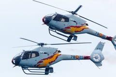 阿斯帕巡逻 航空器:5 x欧洲直升机公司EC120B Colibrà 库存照片