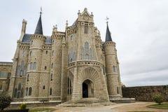 阿斯托加:主教宫殿安东尼Gaudi 免版税库存图片