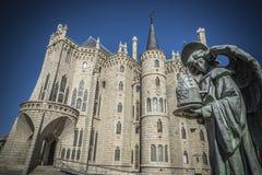 阿斯托加主教gaudi宫殿 免版税库存图片