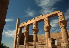 阿斯旺埃及philae寺庙 库存照片