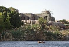 阿斯旺房子尼罗河 库存照片