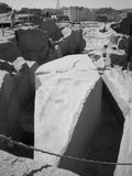 阿斯旺未完成的方尖碑  库存图片