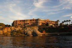 阿斯旺老大瀑布旅馆 库存照片