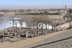 阿斯旺水坝在埃及 库存照片