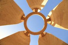 阿斯旺水坝的纪念碑 免版税库存照片