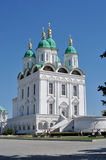 阿斯特拉罕克里姆林宫教会 库存照片