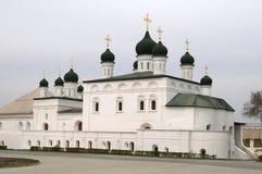 阿斯特拉罕大教堂克里姆林宫俄国s三& 免版税库存照片