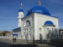 阿斯特拉罕,俄罗斯的白色清真寺 免版税图库摄影