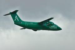阿斯特拉航空公司BAe 146 Avro RJ 免版税库存照片