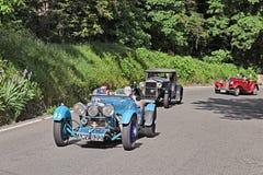 阿斯顿・马丁勒芒(1933)在Mille Miglia 2016年 库存照片