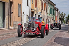 阿斯顿・马丁勒芒1933年在Mille Miglia 2017年 免版税库存照片